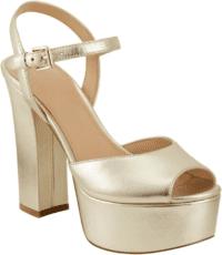 Gold Stacey Platform Sandal - Marc Fisher