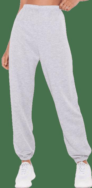 Grey Marl High-Waisted Stuff Cuffed Joggers