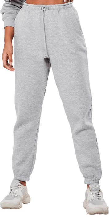 Gray Marl Oversized 90s Joggers-Missguided