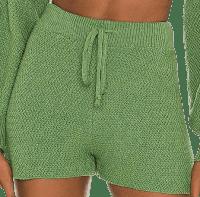 Green Kait Knit Shorts-Lovers + Friends