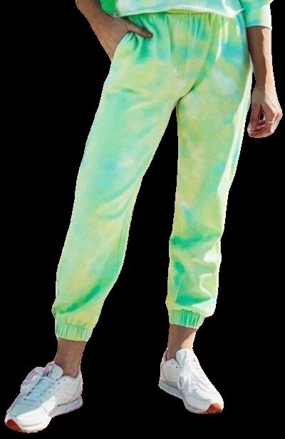 Green Tie Dye Sweatpants