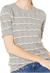 Grey Chevron Sweater Top