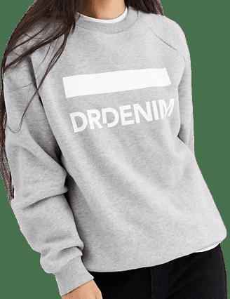 Grey Logo Sweatshirt-Dr Denim
