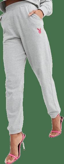 Grey Playboy Sweatpants-Missguided