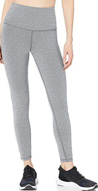 Grey Space Dye High-Rise Full Length Legging-Amazon Essentials
