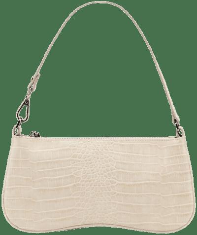 Ivory Croc Eva Shoulder Bag-JW PEI