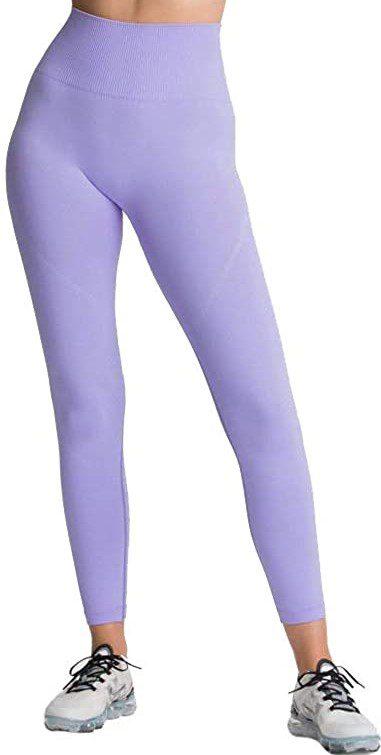 Lavender Seamless Yoga Leggings-Generic