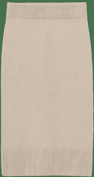 Light Beige Knit Skirt