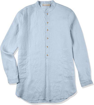 Light Blue Long-Sleeve Collar Shirt