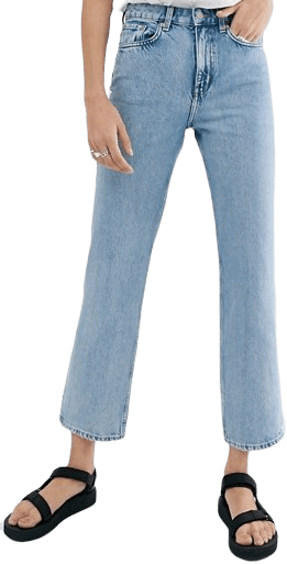 Light Blue Organic Cotton Straight Leg Jeans-Weekday