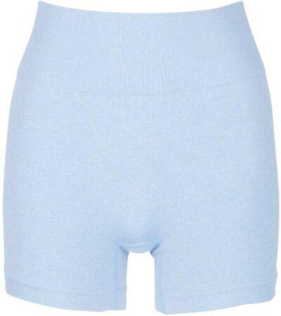 Light Blue Seamless Biker Shorts-Boohoo
