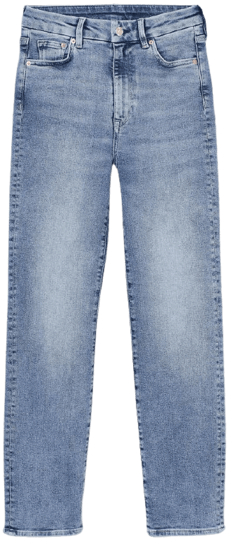 Light Denim Blue Embrace Slim High Ankle Jeans-H&M