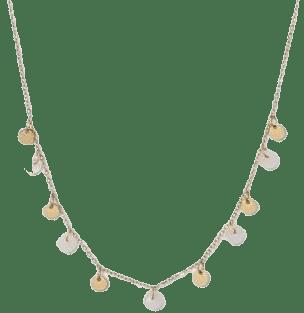 Light Gold Semi Precious Short Delicate Charm Disc Necklace-Universal Thread