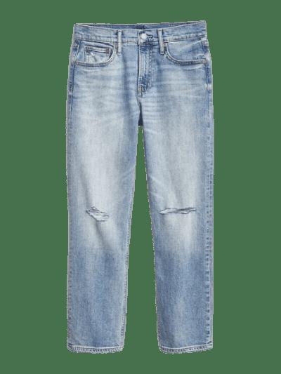 Light Indigo High Rise Cheeky Straight Jeans-Gap