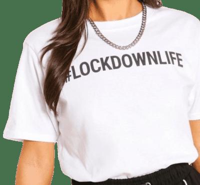 Lockdown Life Graphic Tee-Boohoo