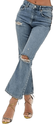 Mid Aged Vintage Blue Ripped Jeans