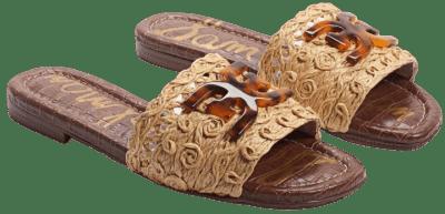 Natural Backer Woven Slider Sandals