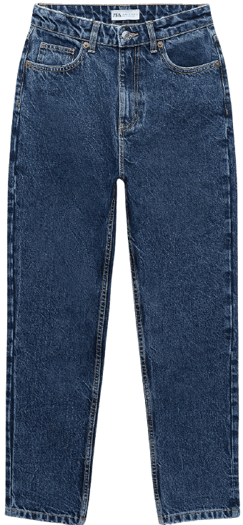 Navy Blue Mom Fit Jeans