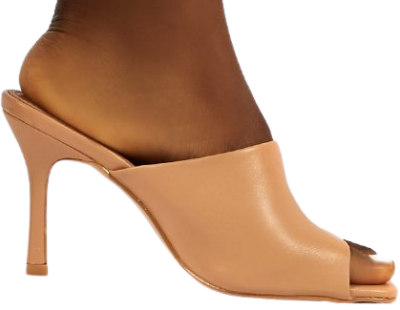 Nude Emili Wide Fit Heeled Mules