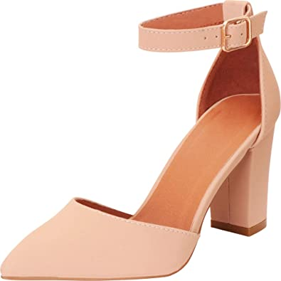 Nude Pointed Toe D'Orsay Pump-Cambridge Select