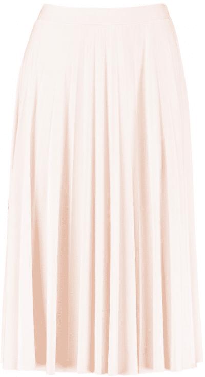 Nude Slinky Pleated Midi Skirt
