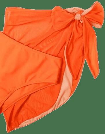Orange Beach Skirt-Shein