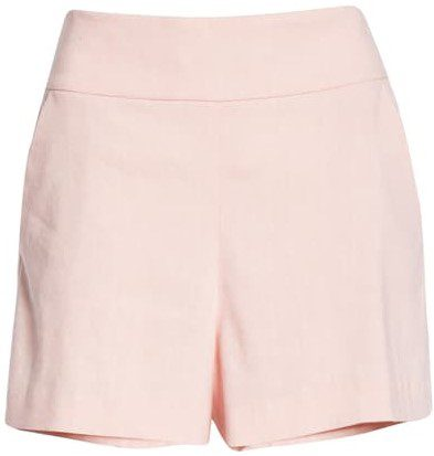 Pink Donald High Waist Shorts-Alice + Olivia