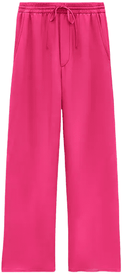 Pink Flowy Pants-Zara