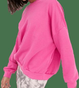 Pink Relaxed Crew Neck Sweatshirt