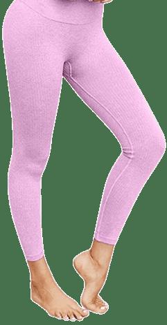 Pink Seamless Yoga Sports Leggings
