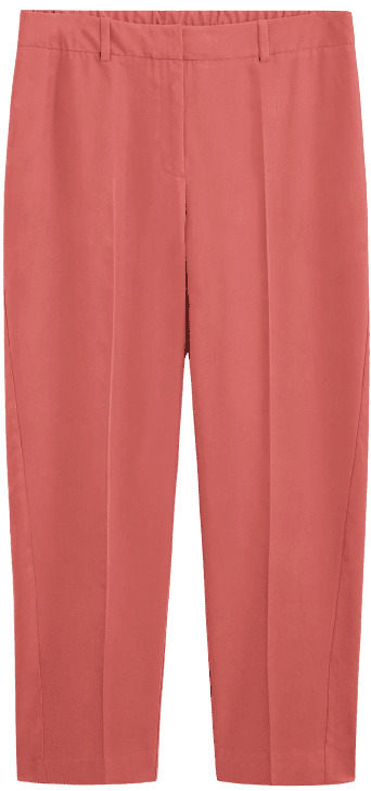 Pink Straight Suit Pants