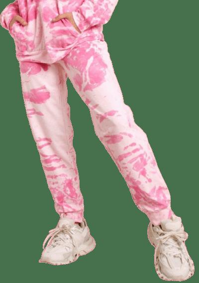 Pink Tie Dye Oversized Jogger-Misspap