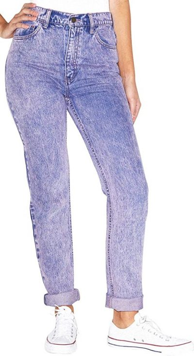 Pink Tinted Wash High-Waist Jeans