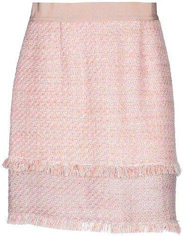 Pink Tweed Mini Skirt-Pinko