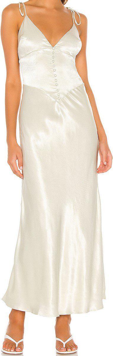 Pistachio Zelda Slip Dress-Bardot