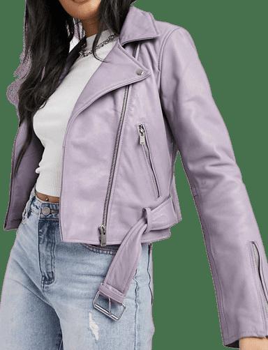 Purple Savanna Nirvana Leather Biker Jacket-Bolongaro Trevor