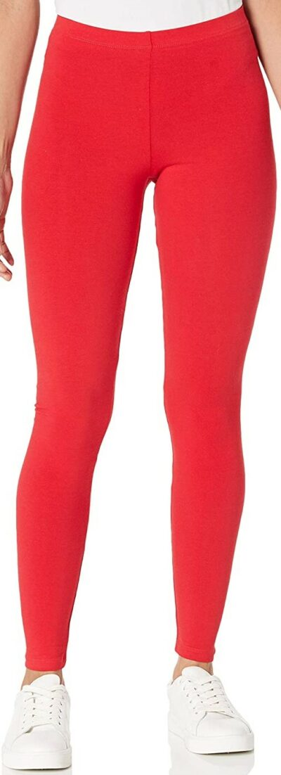 Red Cotton-Spandex Jersey Legging-American Apparel