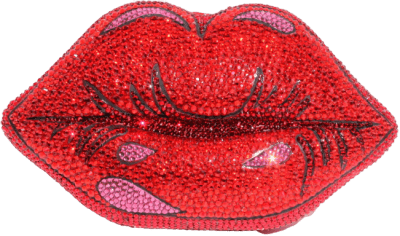 Red Lips Crystal Clutch-Wicked Addiction