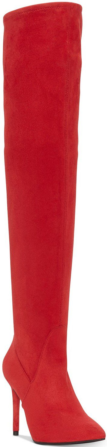 Red Livelle Over-The-Knee Stretch Boots-Jessica Simpson