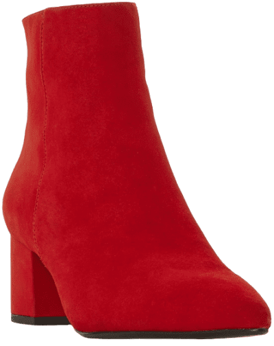 Red Omarii Pointed Ankle Boots-Dune