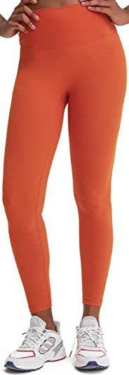 Red Orange High Waisted Naked Feeling Leggings-Celadora