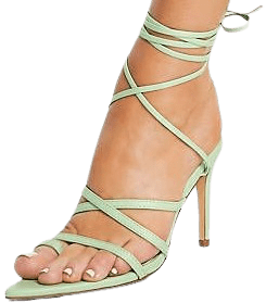 Sage Pointed Toe Strappy Heeled Sandals-Glamorous