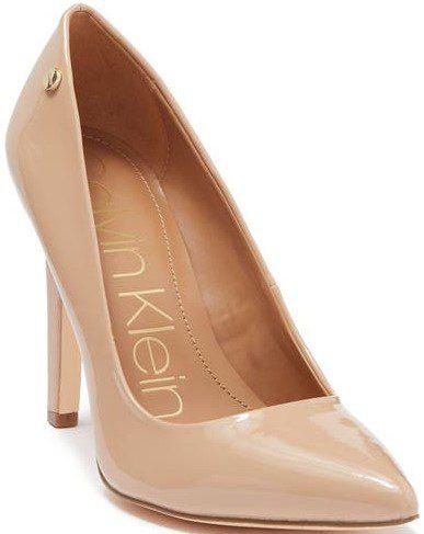 Sandstorm Brady Patent Leather Pointed-Toe Pump-Calvin Klein