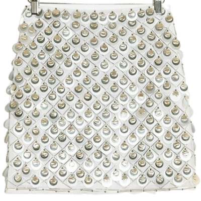 Silver Mini Skirt With Circle Sequins-Asos Design