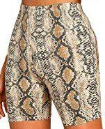 Snake Print Biker Shorts-SOLY HUX
