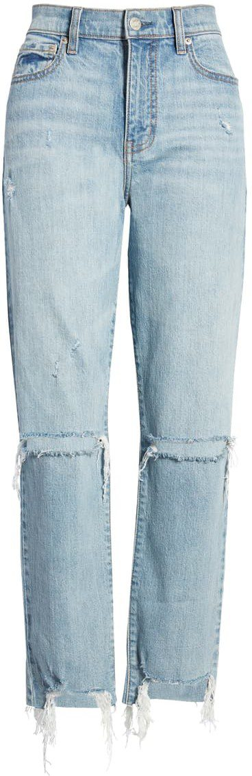 Sorry Straight Up Ripped Ankle Skinny Jeans-Daze