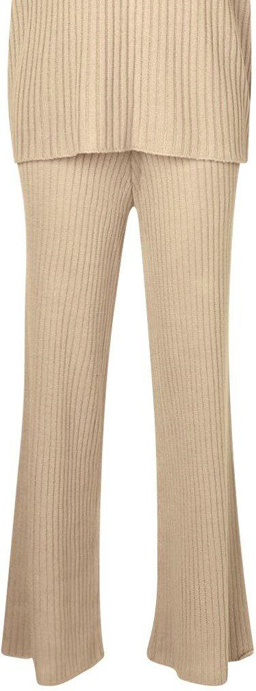 Stone Wide-Leg Knitted Pants