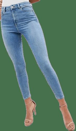 Stonewash Blue Ridley High Waisted Skinny Jeans-Asos Design