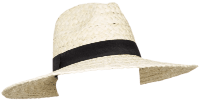 Straw Wide Brim Fedora Hat-Universal Thread