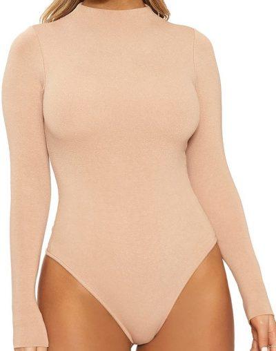 Tan The NW Thong Bodysuit-Naked Wardrobe